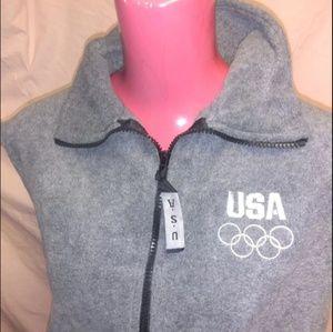 US Olympic Committee XL Zipper Vest